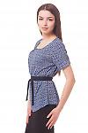 Купить блузку в ромашки с защипами Деловая женская одежда