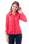 Фото Блузка со складочками по планке из шифона Деловая женская одежда