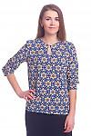 Блузка в орнамент с капелькой Деловая женская одежда