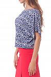Купить блузку в ромашки из штапеля Деловая женская одежда