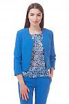 Болеро голубое Деловая женская одежда