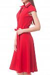 Купить платье красное с пуговицами впереди Деловая женская одежда