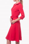 Купить платье-миди красное с длинным рукавом Деловая женская одежда