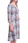 Купить платье серое в голубую клетку Деловая женская одежда