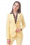 Фото Жакет удлиненный желтый Деловая женская одежда