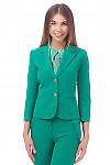 Жакет женский зеленый Деловая женская одежда