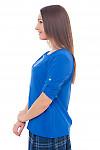 Купить блузку электрик со встречной складкой Деловая женская одежда фото