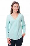 Блузка мятного цвета из вискозы Деловая женская одежда фото