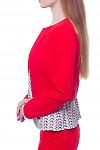 Купить короткий красный жакет Деловая женская одежда фото