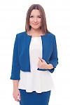 Кардиган теплый короткий цвета электрик Деловая женская одежда фото