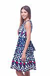 Купить платье синее в красно-белый горох Деловая женская одежда фото