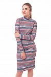 Платье трикотажное со стойкой Деловая женская одежда фото