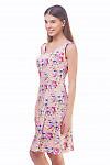 Купить розовый летний сарафан в розы Деловая женская одежда