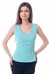 Топ бирюзовый, приталенный Деловая женская одежда фото