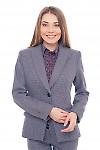 Жакет удлиненный в бордовую лапку Деловая женская одежда фото