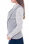 Купить женскую белую жилетку в клетку Деловая женская одежда фото