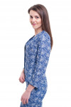 Купить джинсовый жакет без воротника Деловая женская одежда фото