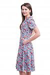 Купить платье летнее в сиреневые ромашки Деловая женская одежда фото