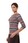 Купить тунику разноцветную в полоски Деловая женская одежда фото