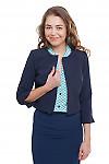 Жакет короткий темно-синий Деловая женская одежда фото