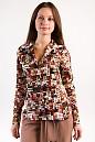 Фото Блузка классическая в горох Деловая женская одежда