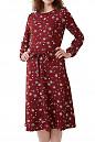 Платье бордовое из крепа Деловая женская одежда фото