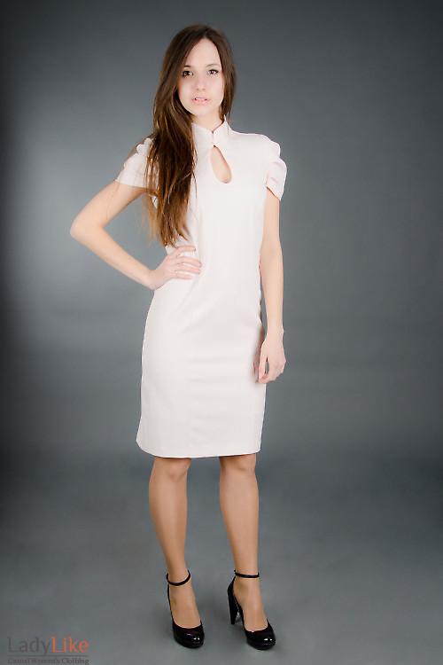Платье розовая капелька Деловая женская одежда