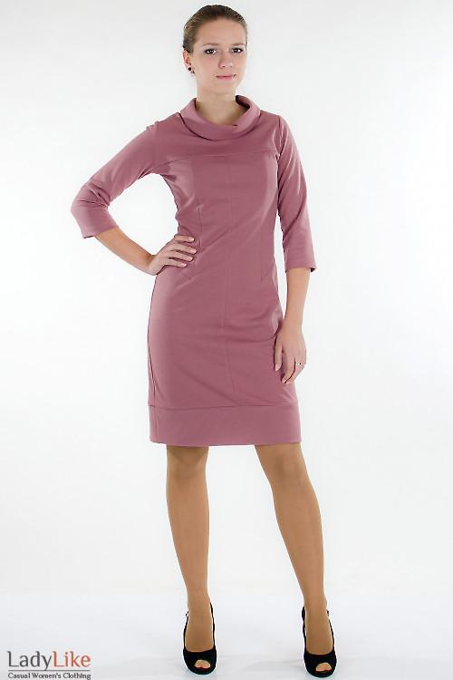 ccbfce47a8a3376 Платье трикотажное розовое — купить в интернет-магазине | Артикул 544a