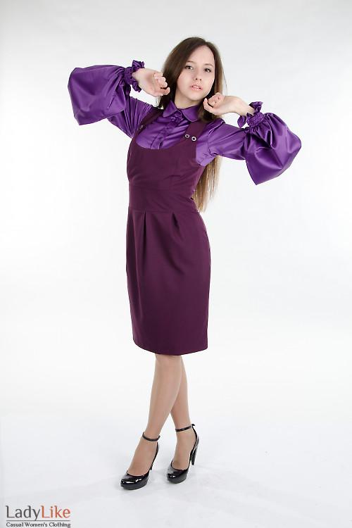 Стильный классический сарафан. Деловая женская одежда