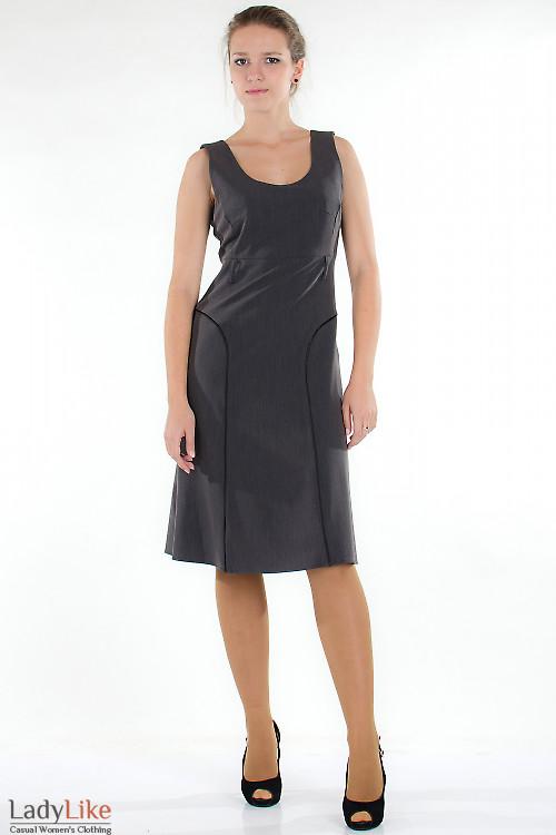 Сарафан классический серый Деловая женская одежда