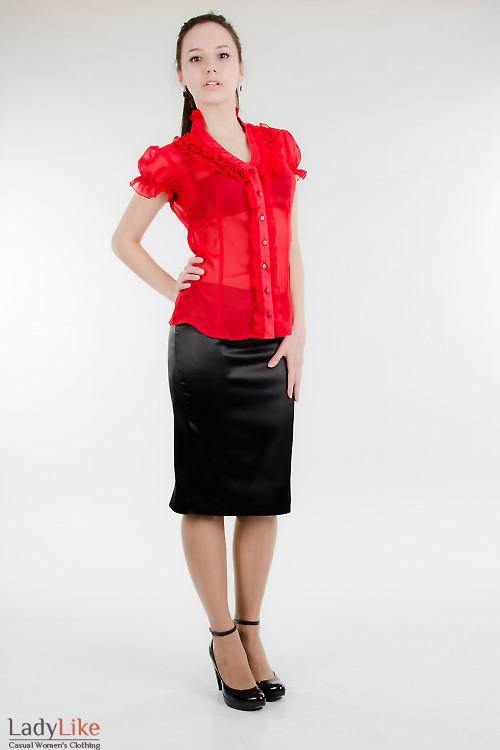 Юбка-карандаш черная Деловая женская одежда