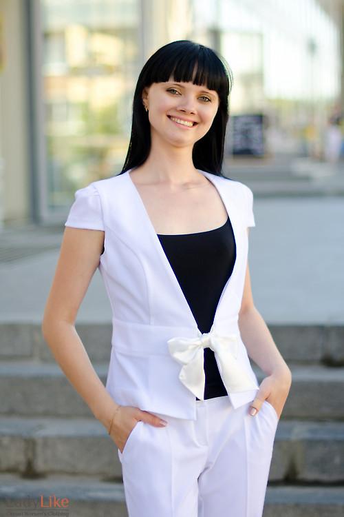 Жакет белый летний Деловая женская одежда