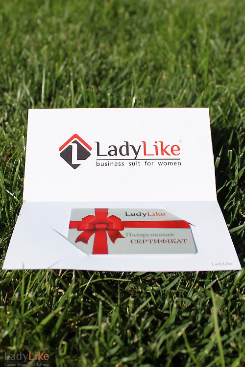 Подарочный сертификат на женскую одежду Ladylike