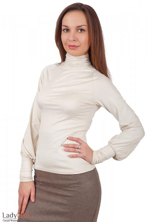 Фото Гольф молочный из спандекса Деловая женская одежда