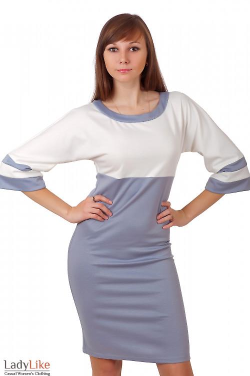 Фото Платье молочно-серое Деловая женская одежда