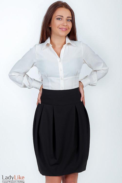 Юбка-тюльпан черная Деловая женская одежда