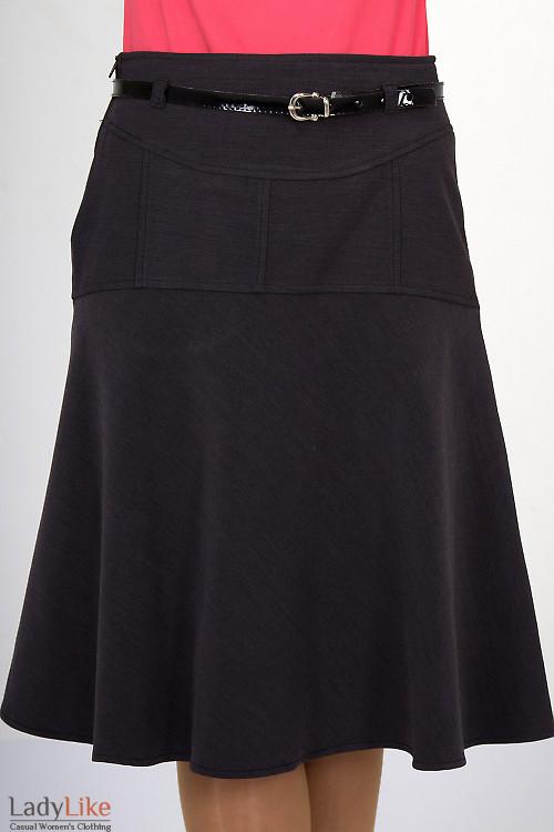 Фото Юбка серая на флисе Деловая женская одежда