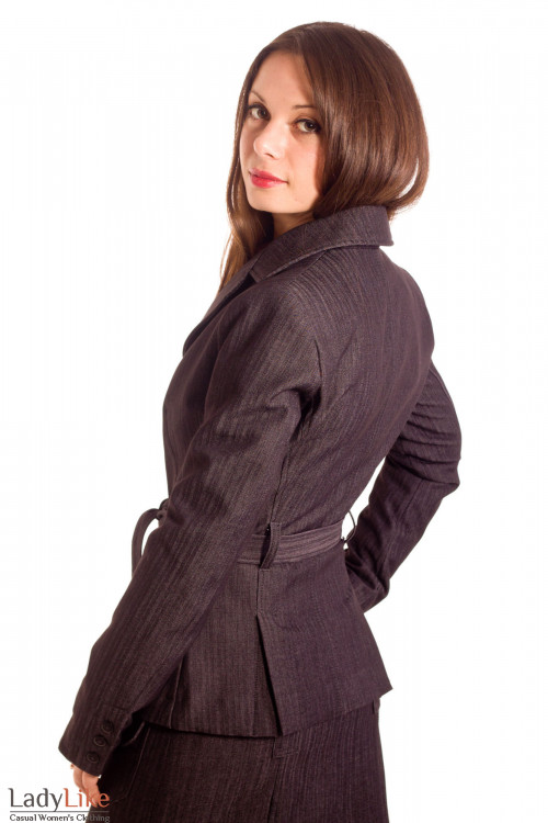 Фото Жакет джинсовый на флисе Деловая женская одежда