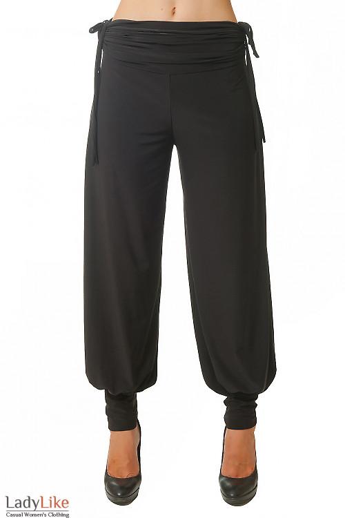 Брюки-турчанки черные Деловая женская одежда