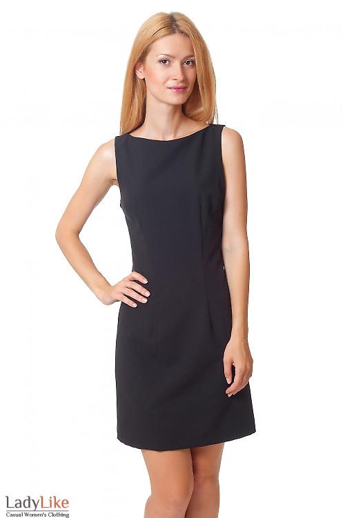 Платье-футляр классическое черное Деловая женская одежда