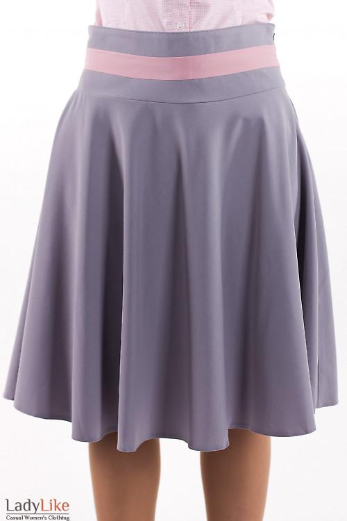 Фото Юбка серая солнцеклеш Деловая женская одежда