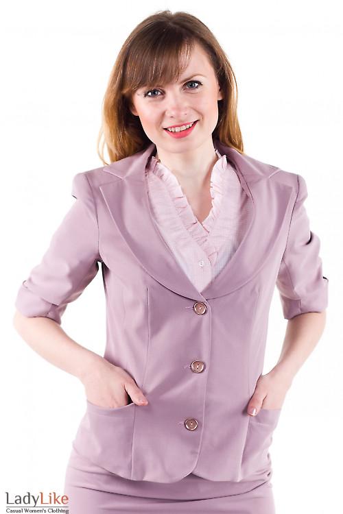 Фото Жакет бледно-розовый Деловая женская одежда