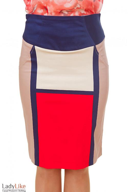 Юбка в крупные квадраты Деловая женская одежда