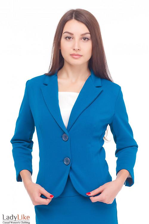 Жакет деловой трикотажный Деловая женская одежда