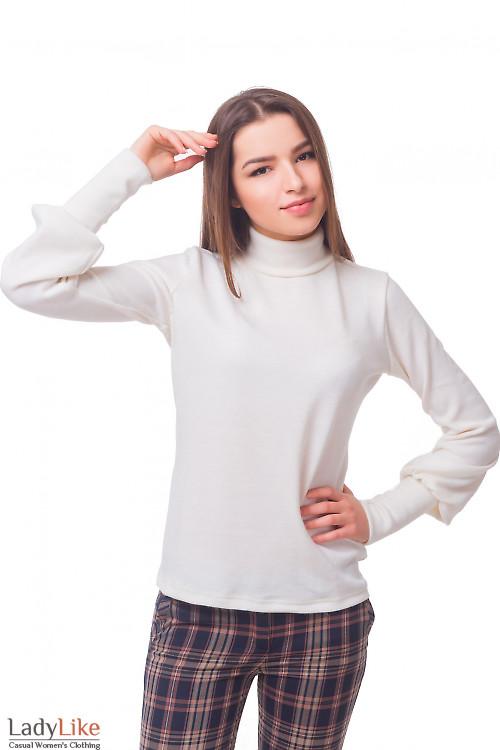 Гольф молочный с ангоры Деловая женская одежда