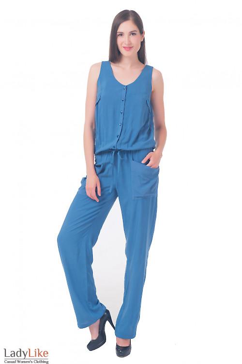 Комбинезон женский синий Деловая женская одежда