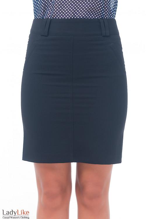 Юбка классическая черная Деловая женская одежда