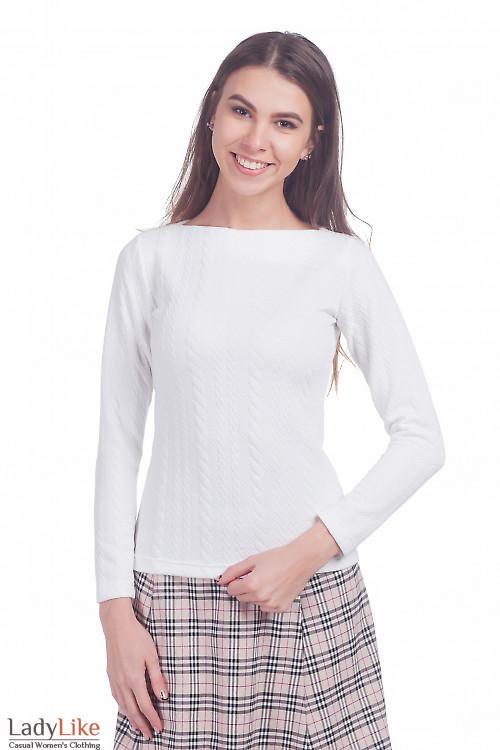 Фото Джемпер белого цвета Деловая женская одежда
