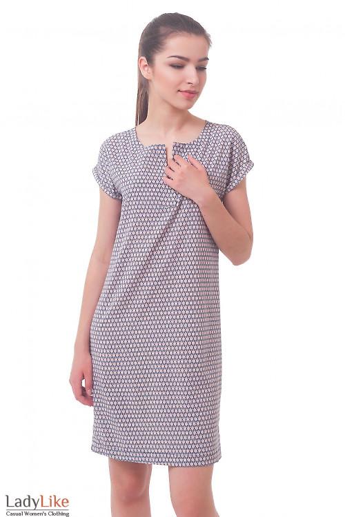 Летнее платье в розовые ромашки Деловая женская одежда