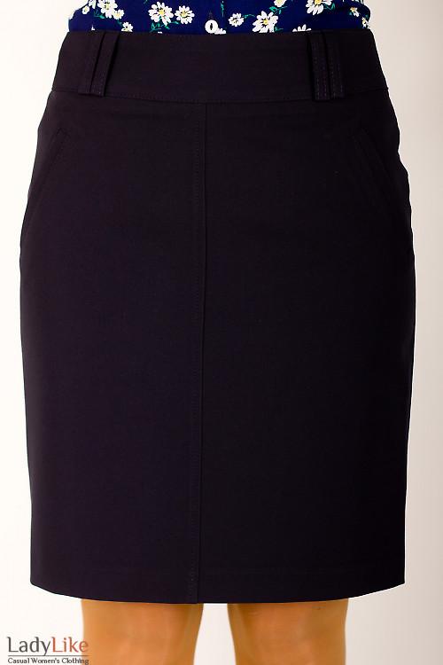 Фото Юбка синяя в офис Деловая женская одежда